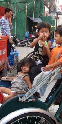 street scene in Cambodia
